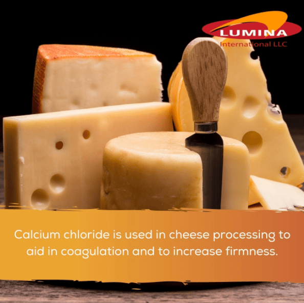 Lumina offers food grade calcium chloride imported from India